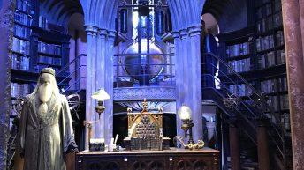 Das Originalkostüm von Dumbledore in seinem Büro