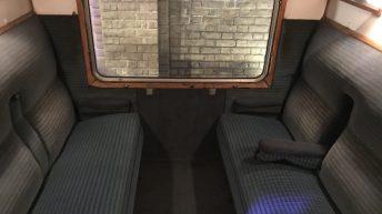 Das berühmte Zugabteil, wo Harry, Ron und Hermine saßen