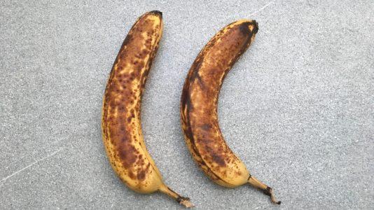 Für zwei Personen benötigt ihr zwei Bananen