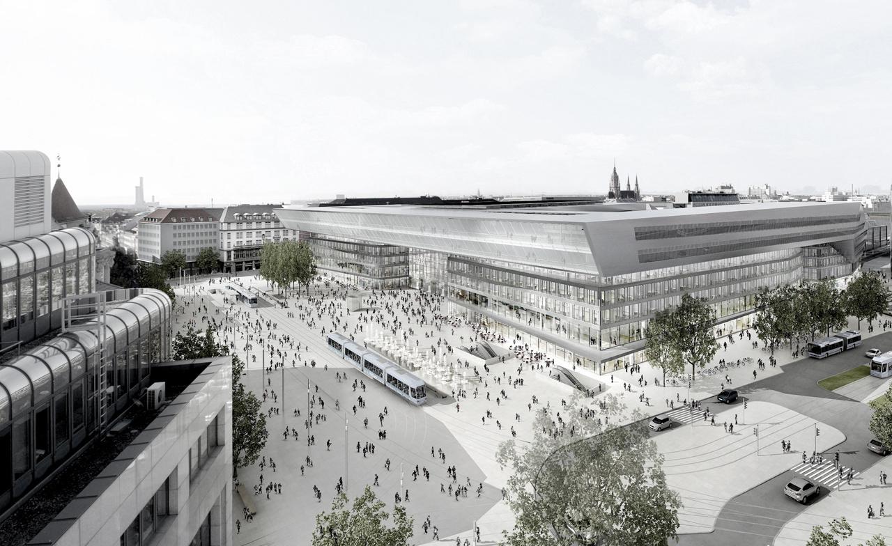 Der Entwurf des neuen Bahnhofsvorplatzes (Auer Weber)