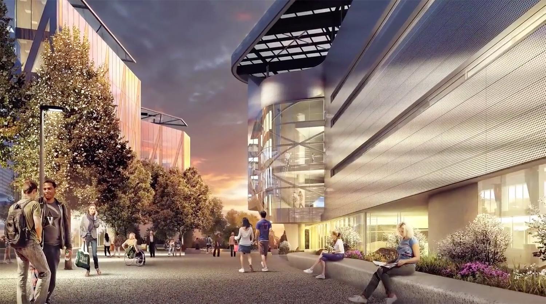 Das Bloomberg Center auf dem Cornell Tech Campus - Bild: Kilograph and Morphosis