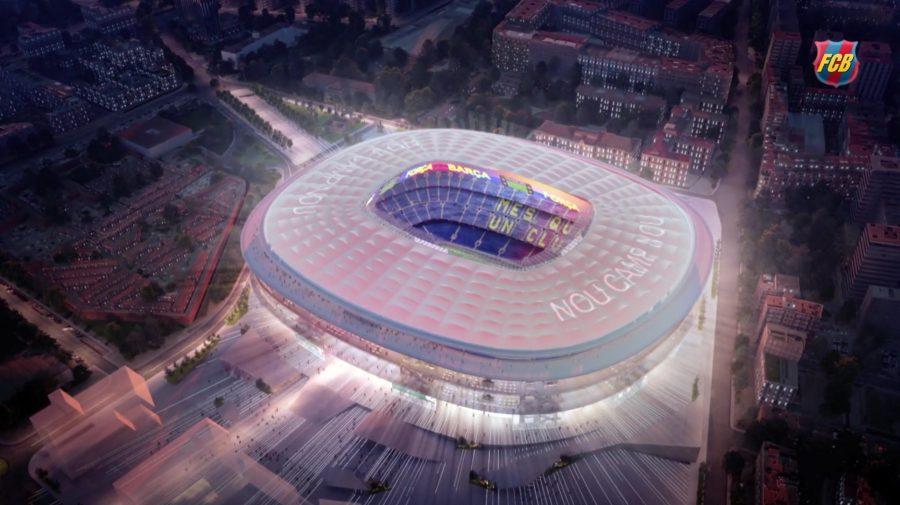 Das neue große Dach der Arena