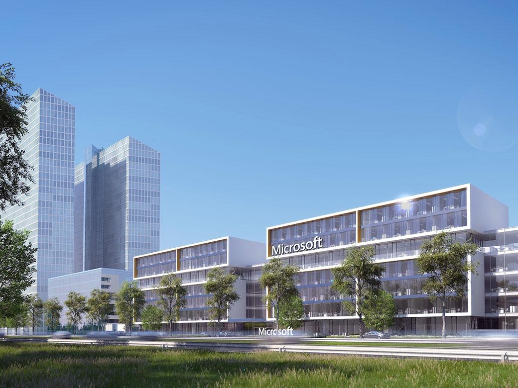 Das neue Microsoft-Gebäude - Foto: argenta