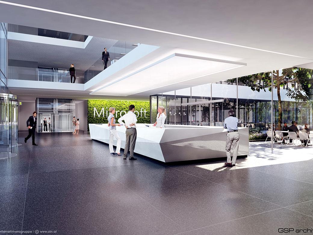 Der künftige Empfangsbereich von Microsoft - Foto: argenta