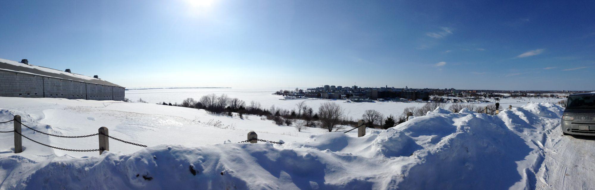 Blick auf Kingston vom Fort Henry