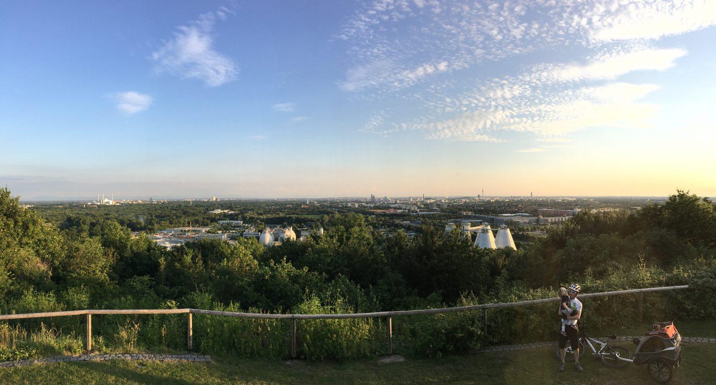 Panorama über ganz München.