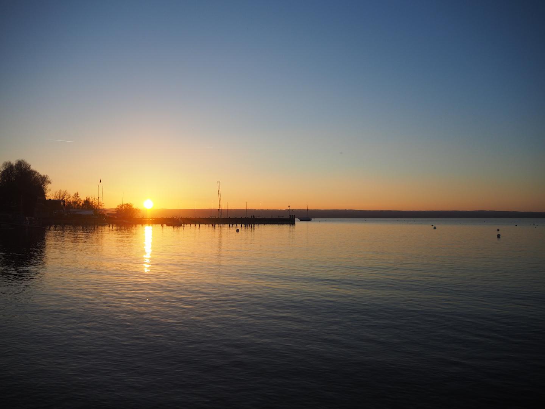 Der traumhafte Sonnenuntergang