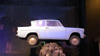 Weasly's fliegendes Auto im Baum gefangen