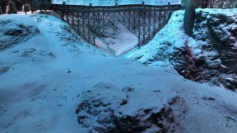 Die verschneite Brücke zu Hogwarts