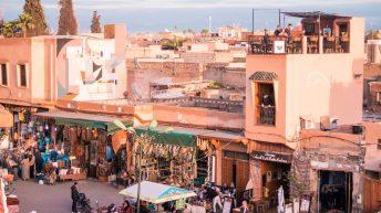 """Der """"Souk des Epices"""" von oben - Marrakesch"""